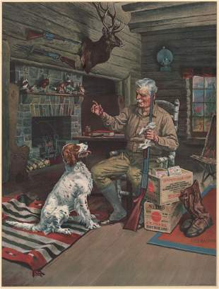 Henry Sumner (Hy) Watson For Remington Lithograph