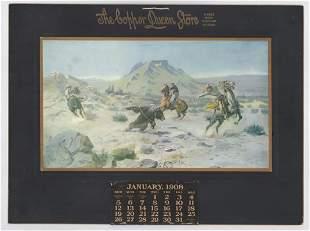 Charles Russell Original 1908 Calendar