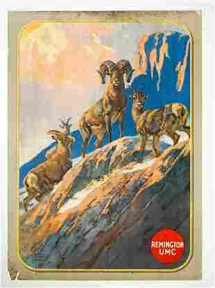Remington UMC Original Advertising Sign by Hunt