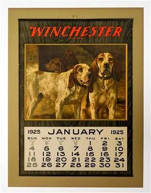 Winchester Original 1925 Advertising Calendar