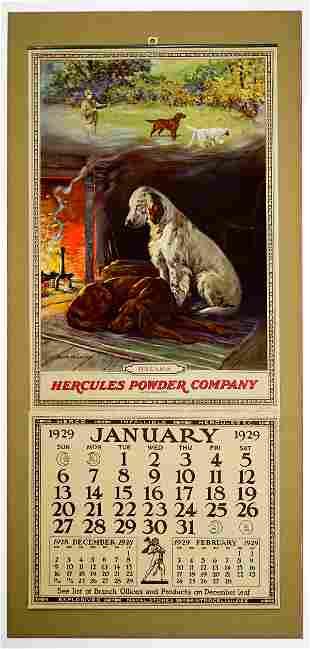 Hercules Powder Co. Original 1929 Calendar