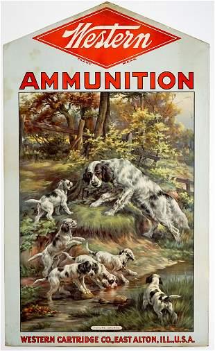 Western Ammunition Original Cardboard Sign