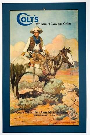 Original 1925 Frank Schoonover Colt Tex & Patches
