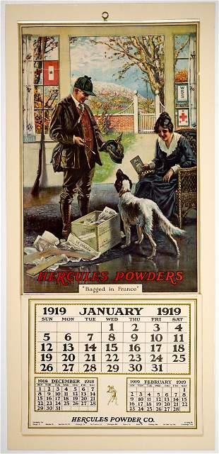 Hercules Powder Co. 1919 Advertising Calendar