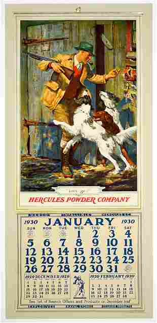 Hercules Powder Co. 1930 Advertising Calendar