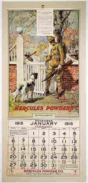 Hercules Powder Co. 1918 Advertising Calendar