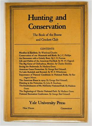 Hunting and Conservation 1925 Boone and Crockett