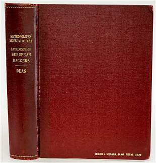 Catalogue European Daggers 1929 LTD