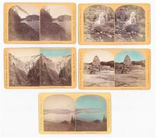 WH Jackson Yellowstone Oversized Stereoviews 5