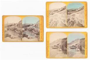 WH Jackson Yellowstone Oversized Stereoviews 3