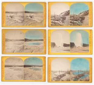 WH Jackson Yellowstone Oversized Stereoviews 6