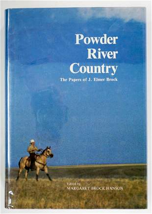 Powder River Country by Hanson 1981 SIGNED