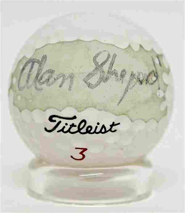 Alan Shepard FIRST Golf Ball He Ever Signed