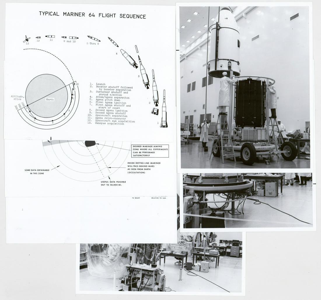 1964 Mariners Mars NASA Vintage Photographs (6)