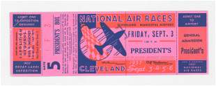 RARE 1937 National Air Races Full Ticket