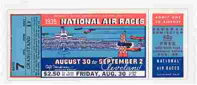 RARE 1935 National Air Races Full Ticket