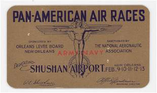 1934 PanAmerican Air Races New Orleans Pass