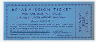 1934 PanAmerican Air Races New Orleans Ticket