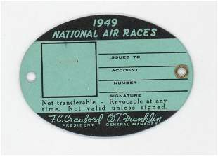 1949 National Air Races Tag