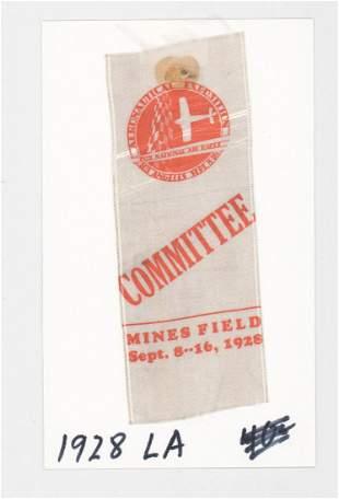 1928 Aeronautical Exposition Los Angeles Pass