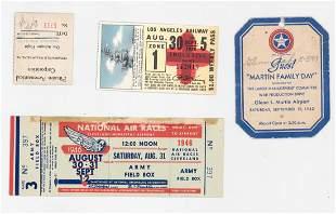 Vintage Aviation Tickets and Ephemera