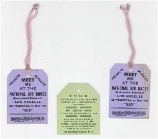 Three National Air Races Passes