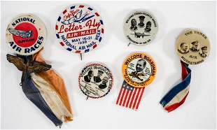 Group of Early Aviation Pinback Buttons 6