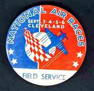 1938 National Air Races Pinback Button