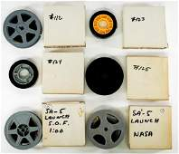 NASA Saturn V Vintage 16mm Film Reels (6)