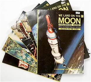 1969 We Land on the Moon Coloring Books UNUSED