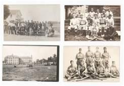 Antique Baseball Real Photo Postcards (4)