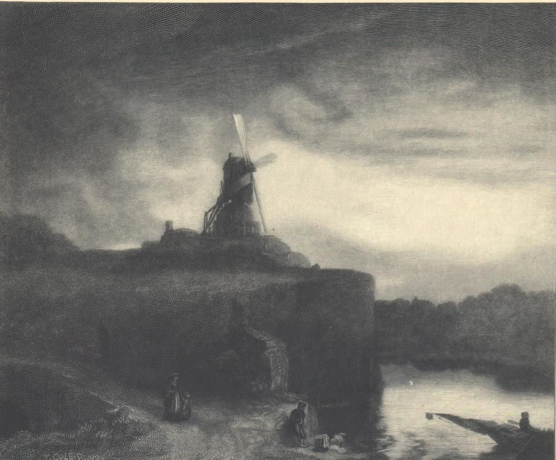 Timothy Cole Wood Engraving Signed [Mill]