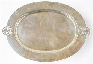 Richard Dimes Hammered Sterling Oval Tray