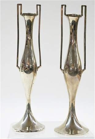 Williams Birmingham Sterling Bud Vases. 1908
