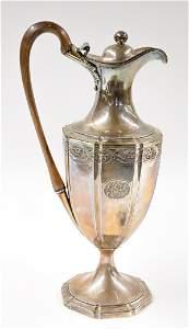 George III Adamesque Style Sterling Hot Water Jug