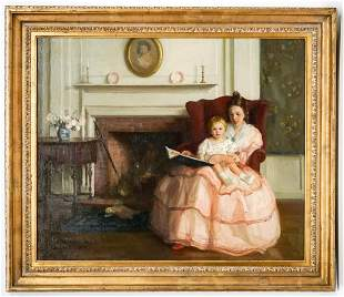 Marguerite Stuber Pearson Large Oil on Canvas