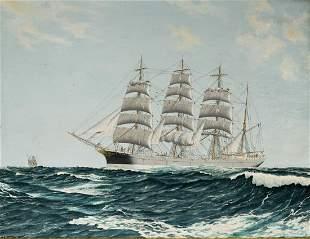 C. E. Olsson Oil on Canvas [Maritime] 1957