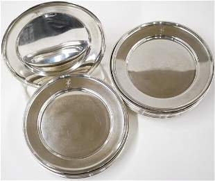 A Set of Sterling Desert Plates
