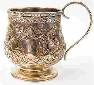 George Nangle 1780 George III Small Silver Mug
