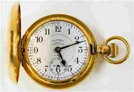 18k Waltham Vanguard 23J Pocket Watch