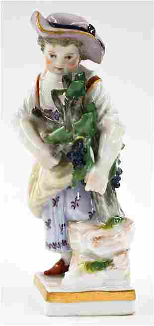 Small Meissen Figure of Girl