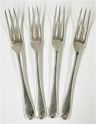 London Sterling Hallmarked Set Forks (4)
