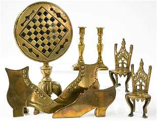 A Group of English Brass Miniatures