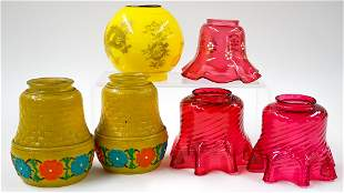 Vintage Glass Lamp Shades (6)