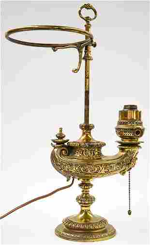 Vintage Aladdin Lamp Brass Plated