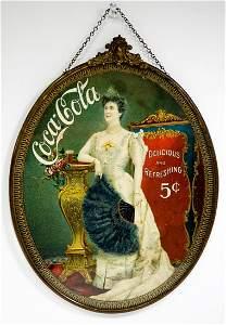 Coca-Cola Lillian Nordica Hanging Sign 1904
