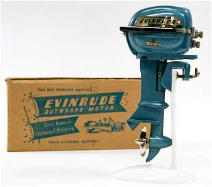 Evinrude Vintage Bigtwin Toy Outboard Motor MIB
