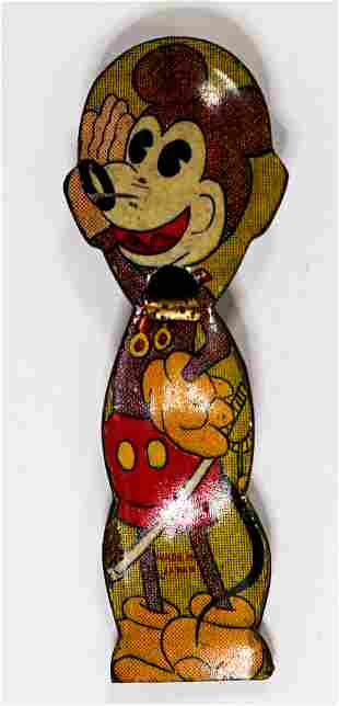 Mickey Mouse Early Tin Whistle