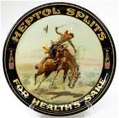 Charles Russell for Heptol Splits Advertising Tray