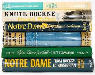 Notre Dame, Knute Rockne Football Books (6)